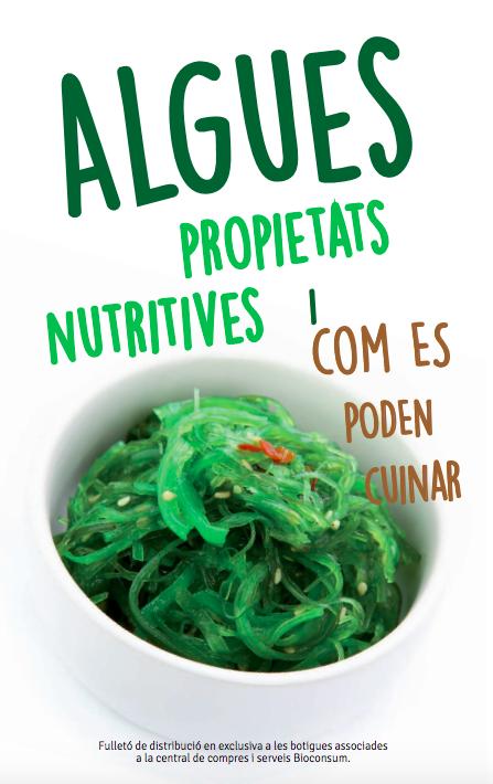 Portada del llibret sobre les algues de Bioconsum