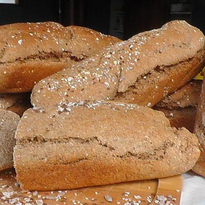 Barras de pan de cereales sin gluten