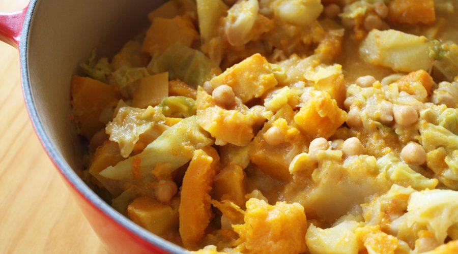 Guisat de carbassa i cigrons