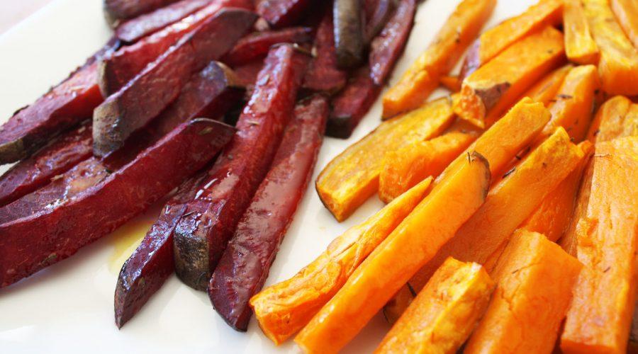 Tires de remolatxa i moniato amb farigola